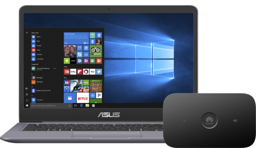 ASUS S410 i5 + router E5573Cs