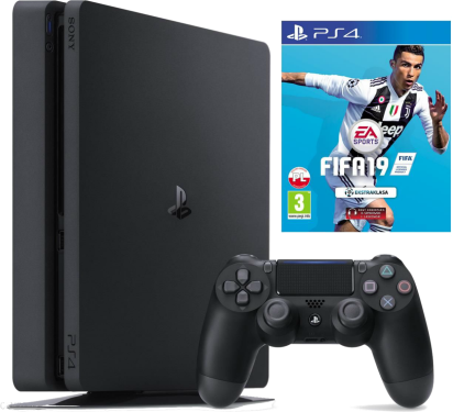 Sony PlayStation 4 Slim + Fifa 19